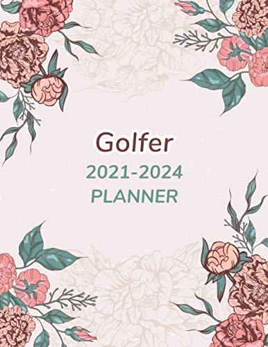 Golfer 2021-2024 Planner: All In One Elegant Large 48 Month Calendar Planner...