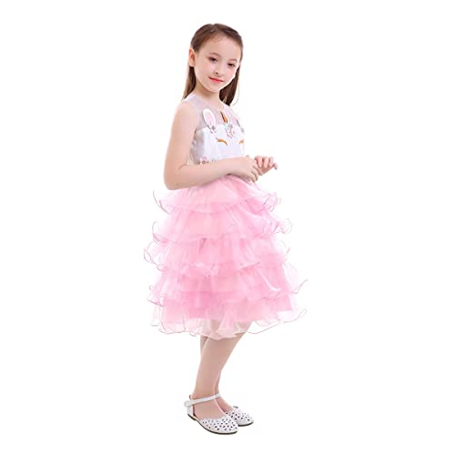 015a09ba9 OBEEII Baby Girls Unicorn Dress Cute Rainbow Unicorn Costume Sleeveless  Tutu Skirt for Birthday Party Halloween