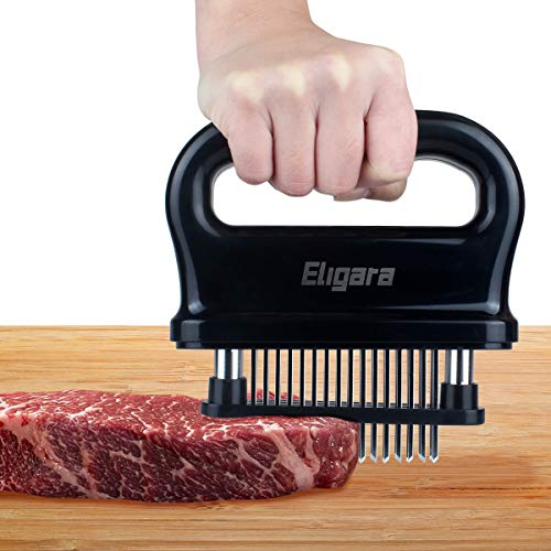 Eligara Meat Tenderizer with 48 Stainless Steel Needle Blade | Steak Tenderizer with ABS Safe Plastic Lightweight amp Durable Kitchen Cooking Tool