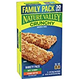 Nature Valley Granola Bars, Crunchy, Peanut Butter and Oats 'n Honey, 15 packs of 2 Bars