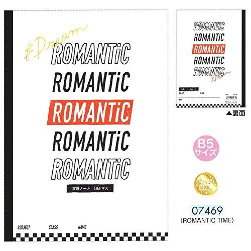 ROMANTIC TIME / B5 クラフト 方眼ノート 5mm ゴールド箔押し 07469