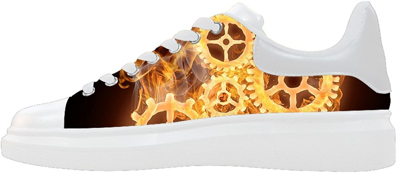 Dalliy Fire Flames Men's Canvas shoes Footwear Sneakers shoes
