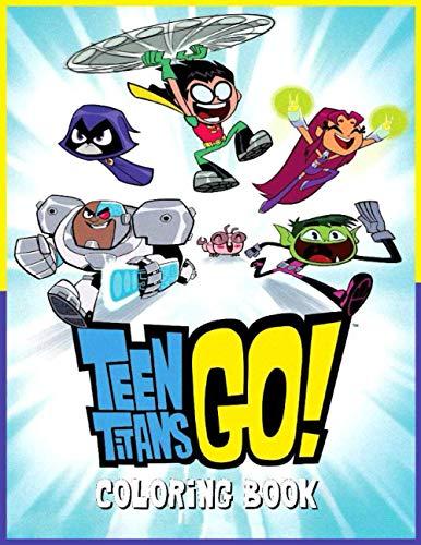 Teen Titans Go! Coloring Book: libro para colorear de los jovenes titanes go