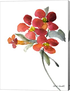 Trumpet Vine by Lanie Loreth Canvas Art Wall Picture, Gallery Wrap, 12 x 16 inches