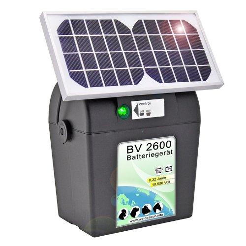 VOSS.farming Weidezaungerät mit Solar inkl. Batterie und Zubehör Weidezaun Elektrozaun