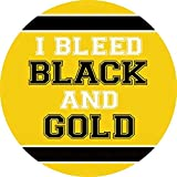 CAR COASTER-Single (1) Absorbent Stone Coasters for Cup Holders-BLEED BLACK & GOLD