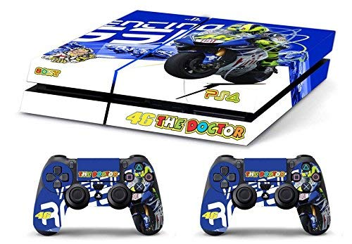 Skin PS4 HD VALENTINO ROSSI THE DOCTOR 46 - limited edition DECAL COVER Schutzhüllen Faceplates playstation 4 SONY BUNDLE