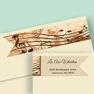 Sheet Music Personalized Diecut Return Address labels-Set of 64, 7