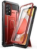 SUPCASE Outdoor Hülle für Samsung Galaxy A52 4G/5G Handyhülle Bumper Hülle 360 Grad Schutzhülle Cover [Unicorn Beetle Pro] mit Integriertem Bildschirmschutz (Rot)