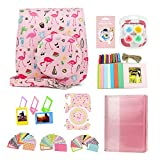 CAIYOULE Accessories Compatible with Fujifilm Instax Mini 11 Instant Camera for Kids Include Instax case & Accessories Bundle (Pink Flamingo)