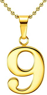 Personalized 18K Gold Plated Lucky Number Pendant Necklace Custom Made with Any 2 Numbers