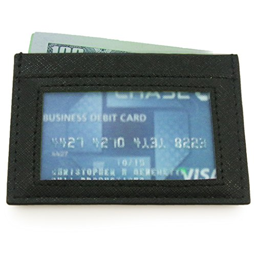 DASH Co. Slim ID Wallet Handmade Leather Credit Card Case With ID Window