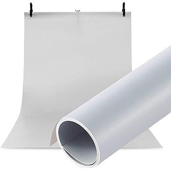 Meking 高品質写真撮影用 PVC 背景紙 バックペーパー 背景布 120cm x200cm 人物撮影 商品撮影対応 グレー