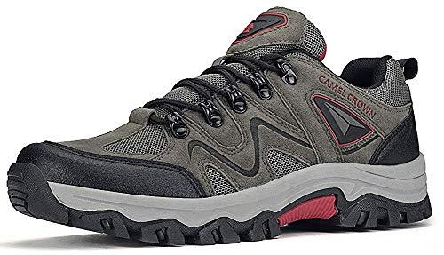 CAMEL CROWN Zapatos de Senderismo para Hombre Antideslizante Botas de Montaña Zapatos de Trekking Deportes Exterior Escalada Zapatillas de Acampada Zapato Seguridad Zapatos Trabajo
