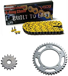 Volar O-Ring Chain and Sprocket Kit - Yellow for 2000-2005 Suzuki GSXR 750