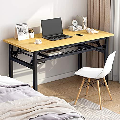 Insputer Mesa de Escritorio Plegable portátil para computadora Escritorio Plegable para Estudiantes 80 x 40 x 75 cm Escritorio Plegable para computadora portátil No Requiere ensamblaje (Amarillo)