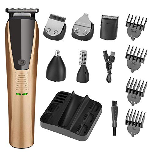 Beard Trimmer 6 in 1 Trimmer for Men Cordless Hair Clippers Mustache Trimmer Nose Hair Trimmer...