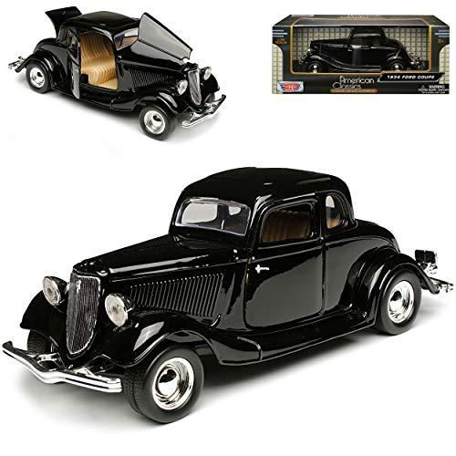 Motormax Ford Coupe 1934 Hard Top Schwarz Oldtimer 1/24 Modellauto Modell Auto