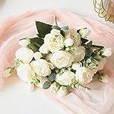 HoYuanFlo Artificial Flowers Silk Peony Rose...