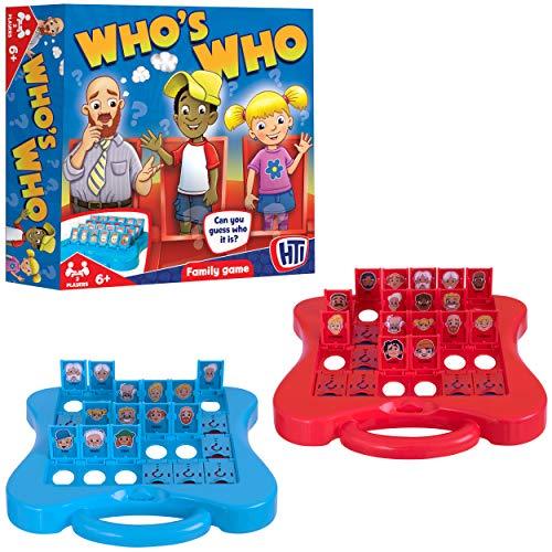HTI Toys Traditionelle Spiele Who's Who Brettspiel Spaß für alle Kinder Jungen und Mädchen