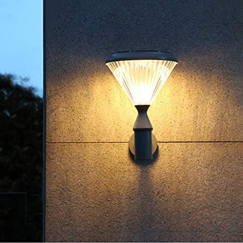 Luces Solares Decorativas para Exteriores, Linterna De Pared para Exteriores, Aluminio Fundido, Impermeable, Pantalla De Pc, Fuente De Luz Led, Apto para Porches De Jardín
