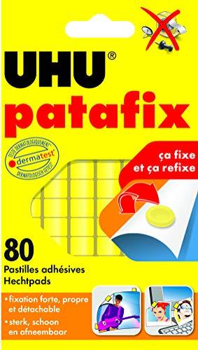 UHU 325906, 80 compresse adesive di patafix, Giallo