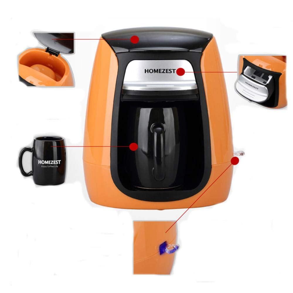 Máquina eléctrica para hacer café Nespresso de alta calidad, automática, monodosis, cafetera, American Drip, 220 V, color naranja: Amazon.es: Hogar
