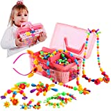 Pop Snap Beads,Birthday Gift for 3,4,5,6,7,8,9 Year Old Girls,Arts and Crafts Toys for Kids Girl Age3-8,DIY Jewelry Kit for Making Bracelets,Necklace,Creative Educational Toys(600pcs)