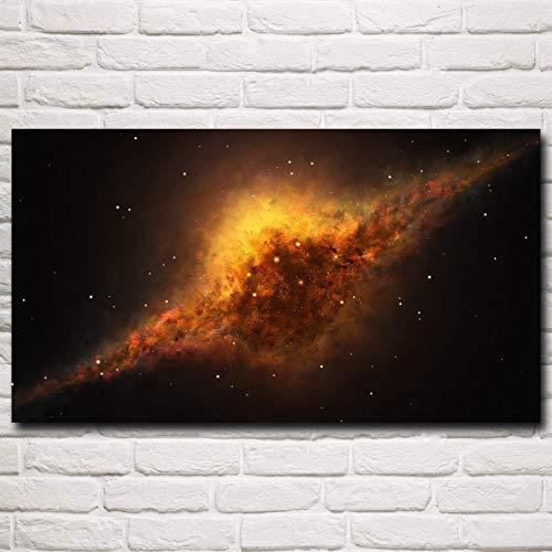 N / A Rahmenlose Malerei Raumnebel Milchstraße Planet Sterne Kunst Seide Poster Home Decor33X60cm