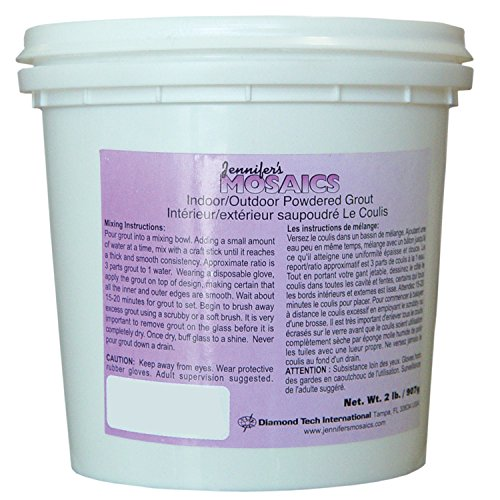 White Powdered Grout (Sanded), 2-Pound