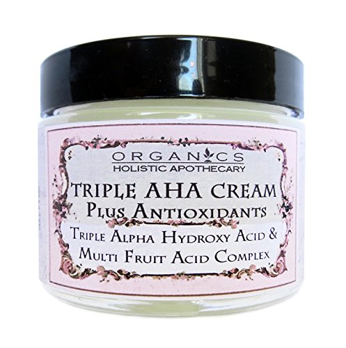 AHA Face Cream Triple Alpha Hydroxy Acid & Multi Fruit Acids Complex. Refines Texture, Pores & Wrinkles - Lac­tic Acid, Glycolic Acid, Citric Acid, and Malic and Tartaric Acids - Facial Moisturizer