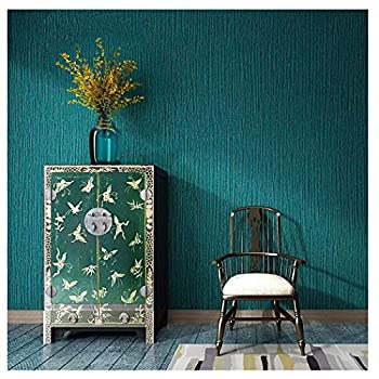 Blooming Wall  Faux Grasscloth Pattern Wallpaper Roll for Livingroom Bedroom 20.8 In32.8 Ft=57 Sq.ft  Green/Turquoise Blue
