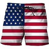 Pantalones Cortos de Playa de Verano Ropa de Playa para Hombres Pantalones Cortos Frescos con Estampado 3D Bañadores D XL
