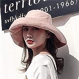 Sombrero De Playa para Sombreros De Playa De Doble Cara para Mujer, Verano, Grande, De ala Ancha, Plegable, para El Sol, Sombrero, para Mujer, Niña, Liso, Anti-UV, Visera