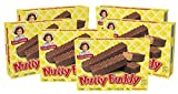 Little Debbie Nutty Buddy Bars, 3 Twin-Wrapped Bars, Peanut Butter (Pack of 6)