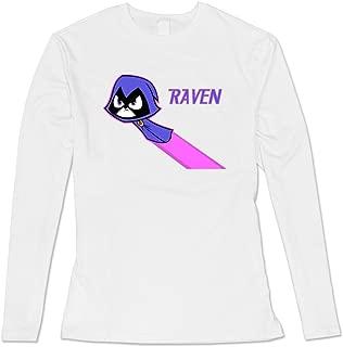 Jiaso Women's Teen Titans Go Raven T-Shirt