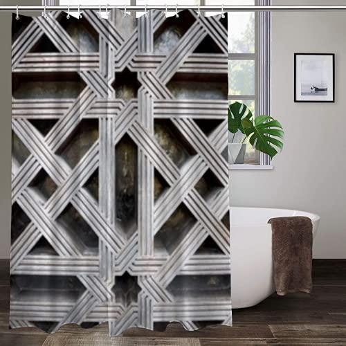 GKGYGZL Cortina de Ducha de poliéster,Wooden Door in Mosque of Cordoba Spain,Excelente Impermeable para la decoración del baño, Cortina de Ducha Linda.70 * 84inch
