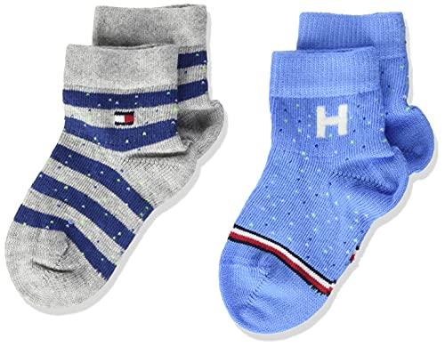 Tommy Hilfiger Neppy Breton Stripe Baby Socks Calcetín clásico, Blue Combo, 23 para Bebés