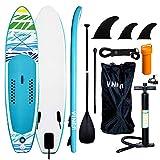 VINGO Planche de Surf 305×76×15cm Stand Up Paddle Board Gonflable,Particulièrement adapté pour Jeunesse et Adulte Charge Max 120 Kg