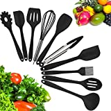 10 Piece Silicone Kitchen Utensil Set by Kuger, Nonstick & Heavy Duty...
