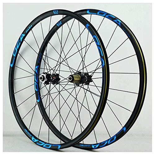 26 Inch MTB Bike Wheelset, Double Wall Cycling Wheels Discbrake Quick Release Racing Bike Wheel 24 Hole 8/9/10/11 Speed