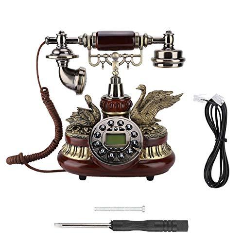 Voluxe Teléfono Fijo para Oficina en casa, Hotel, teléfono Retro Vintage, teléfono Vintage con Cable para Dormitorio, Junto a la Cama, para Estudio, Hotel para Sala de Estar