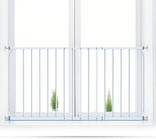 Barrera de Seguridad Barrera de Seguridad Para Niños Para Escaleras, Protectores Extra Anchos Para Niños Barras de Seguridad Para Ventanas de Niños Pequeños, Montaje de Presión de Metal Blanco puertas