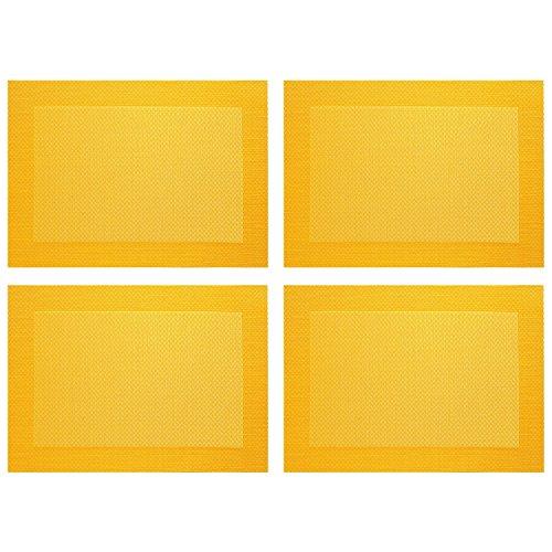 ASA Selection 78073076 table top Weboptik Tischset, 46 x 33 cm, PVC, gelb (4 Stück)