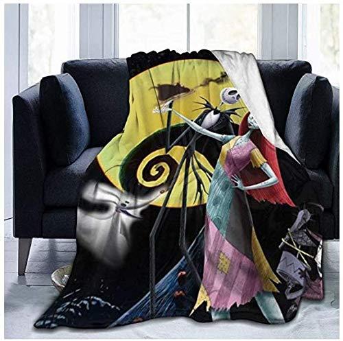 Nightmạre Bûfore - Manta de forro polar ultra suave para Navidad, manta de aire acondicionado, adecuado para cama, sofá, silla, cama de campamento y sala de estar, manta de verano tamaño King