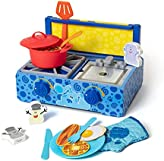 Melissa & Doug Blue's Clues & You! Wooden Cooking Play Set (42 Pieces)