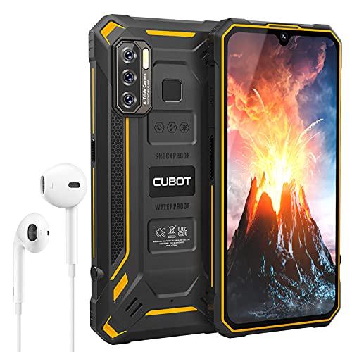CUBOT Kingkong 5 Outdoor Smartphone ohne Vertrag, Android 11, 6,08 Zoll HD Günstig Robustes, 4GB+32GB/256GB Erweiterbar, 5000mAh Akku Dual SIM Handy, IP68 Wasserdicht Stoßfest/NFC/Face ID/OTG/GPS