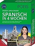 PONS Power-Sprachkurs Spanisch in 4 Wochen: Schnell zum Ziel mit idealen Tagesportionen. Buch mit 2 CDs und 24 Online-Kurztests - PONS GmbH