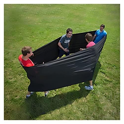 Ruedas de entrenamiento Tubo de lycra, tirachinas creativa de poliéster y spandex para exteriores, juegos de bucle sensorial elástico de compresión grande, para reuniones ( Color : Black , Size : 6M )