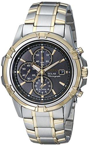 seiko black dial dress watch - 6